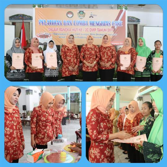 Dharma Wanita Persatuan Kominfo, Juara I Lomba Menghias Cake