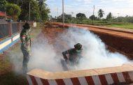 Satgas Yonif 411 Kostrad dan KKP Merauke Lakukan Fogging di Kampung Sota Perbatasan RI-PNG