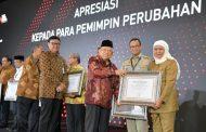 Antarkan Jawa Timur Raih Wilayah Bebas Korupsi, Gubernur Khofifah Diberi Anugerah Pemimpin Perubahan oleh KemenPAN RB