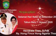 Bupati Kepulauan Sula Mengucapkan Selamat Natal dan Selamat Tahun Baru