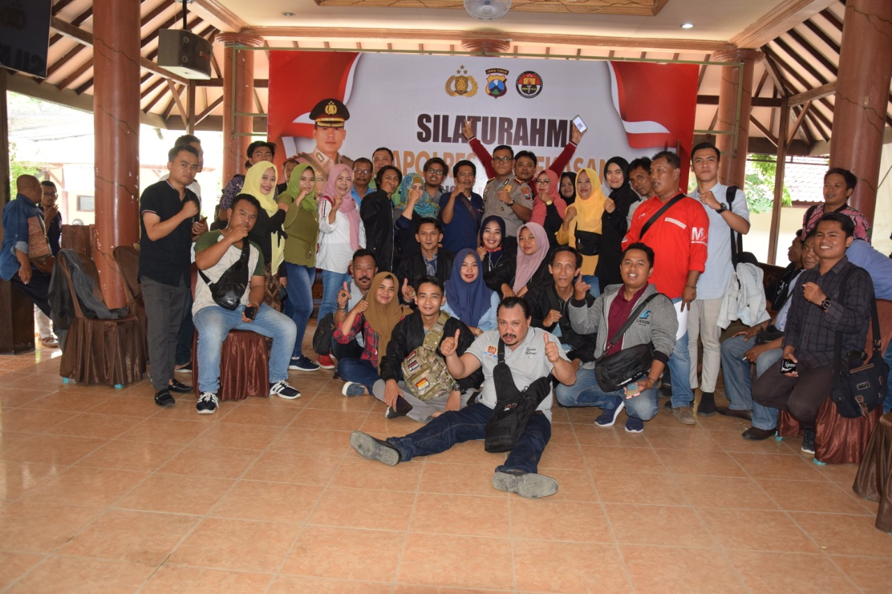 Silaturahmi Kapolres Dan Wartawan, Ciptakan Sinergitas Kemitraan di Pamekasan