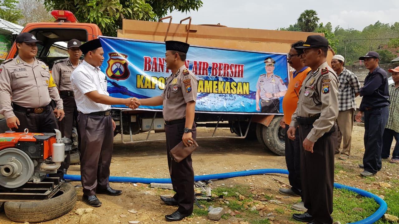 Kapolres Pamekasan, Salurkan Bantuan Air Bersih di PP. Miftahul Ulum