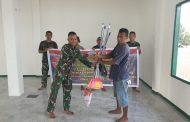 Menyambut Hari Juang TNI AD, Satgas 734 / SNS gelar Pengecatan dan pembersihan Tempat ibadah