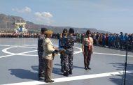 Danlanal Banyuwangi Buka Pelatihan Bela Negara diatas kapal KRI Surabaya