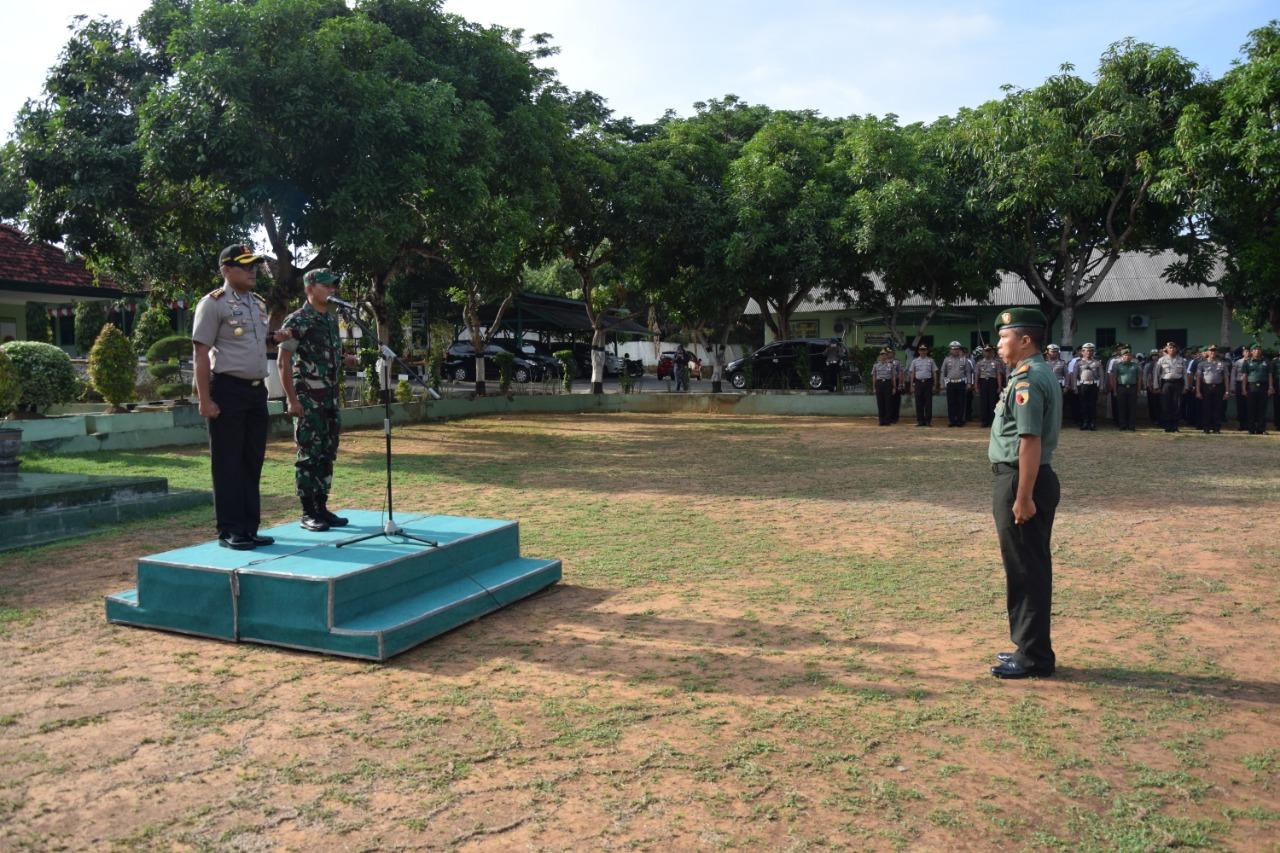 Sinergitas TNI-Polri di Pamekasan Gelar Apel Bersama