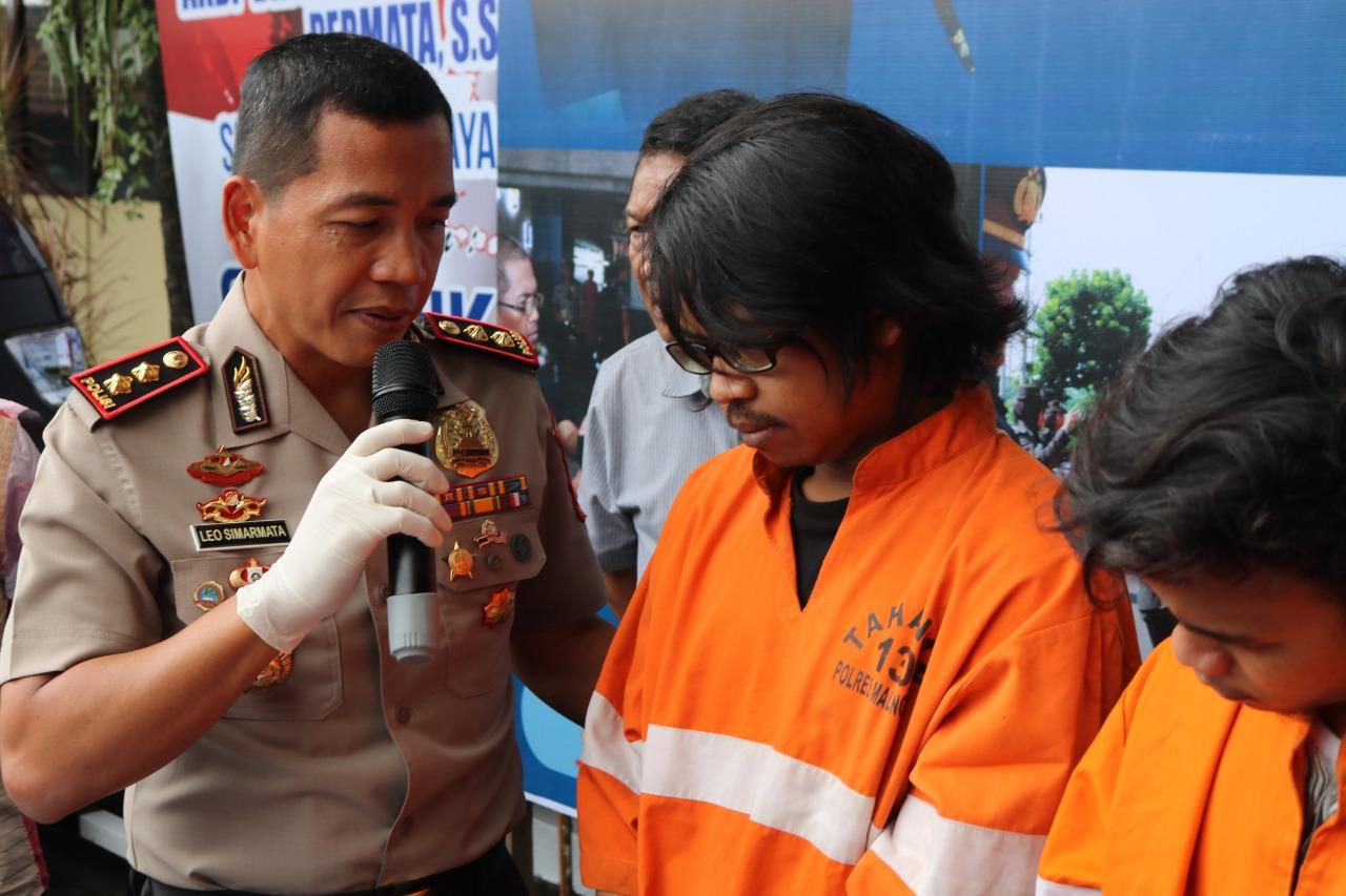 Dua Pengedar Pil Koplo Diringkus Tim Reskoba Polres Kota Malang