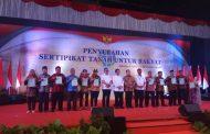 3.500 Sertipikat PTSL Dibagikan Kepada Warga Jakarta Utara