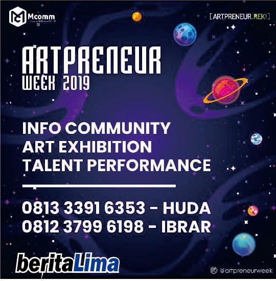 BeritaLima Jadi Media Partner Artpreneur Week 2019