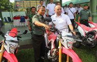 10 Unit Sepeda Motor Honda CRF Kita Alokasikan Kepada Babinsa Jaga teritorial sampai Plosok Desa