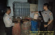 Polres Aceh Utara Grebek Gudang Penimbunan Premium Oplosan