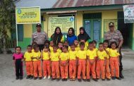 Polsek Teluk Mengkudu Berikan Motivasi Semangat Belajar Kepada KB Tunas Harapan Binaan Pemdes Seibuluh