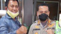 Direktur GGAA Sudarno saat bersama Kapolresta Malang